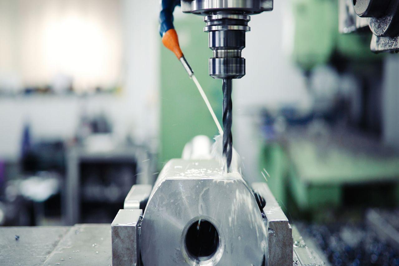 Nahaufnahme einer CNC Maschine