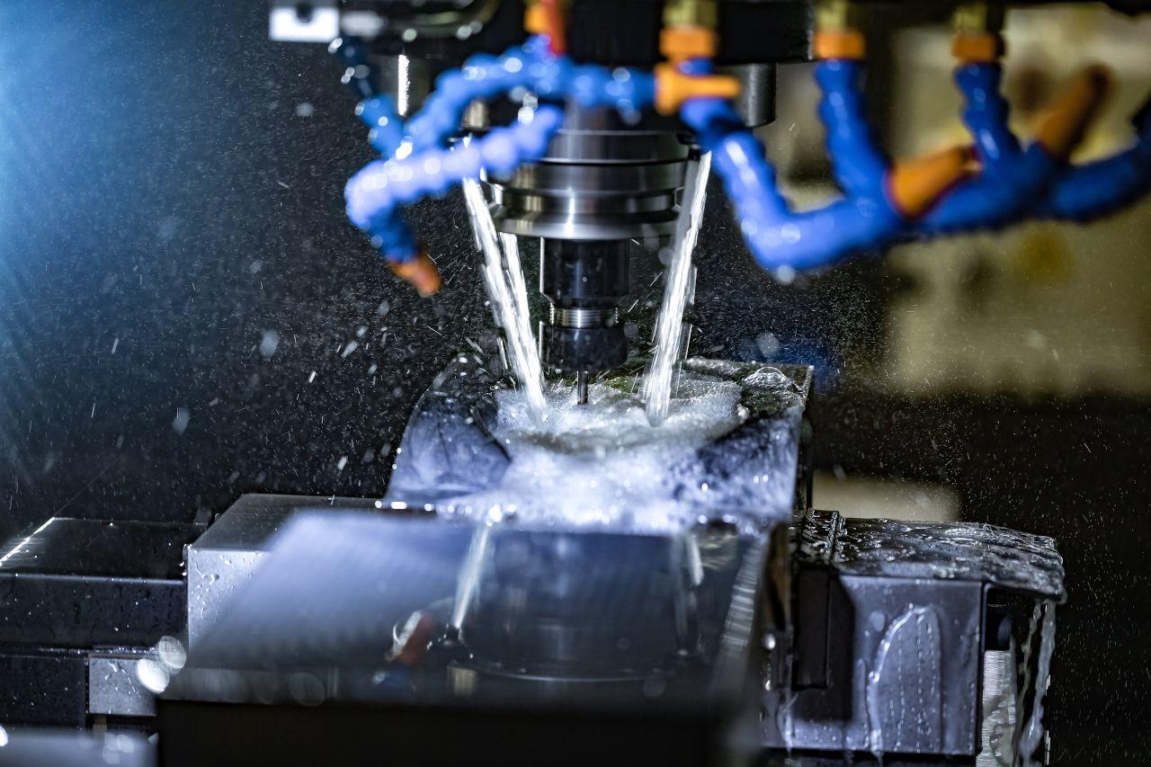 Nahaufnahme einer CNC Mahlmaschine