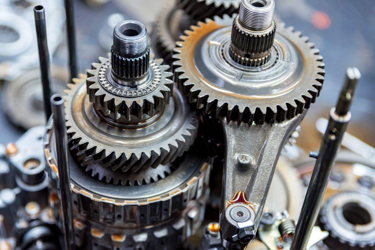 Zahnräder in einem Getriebe