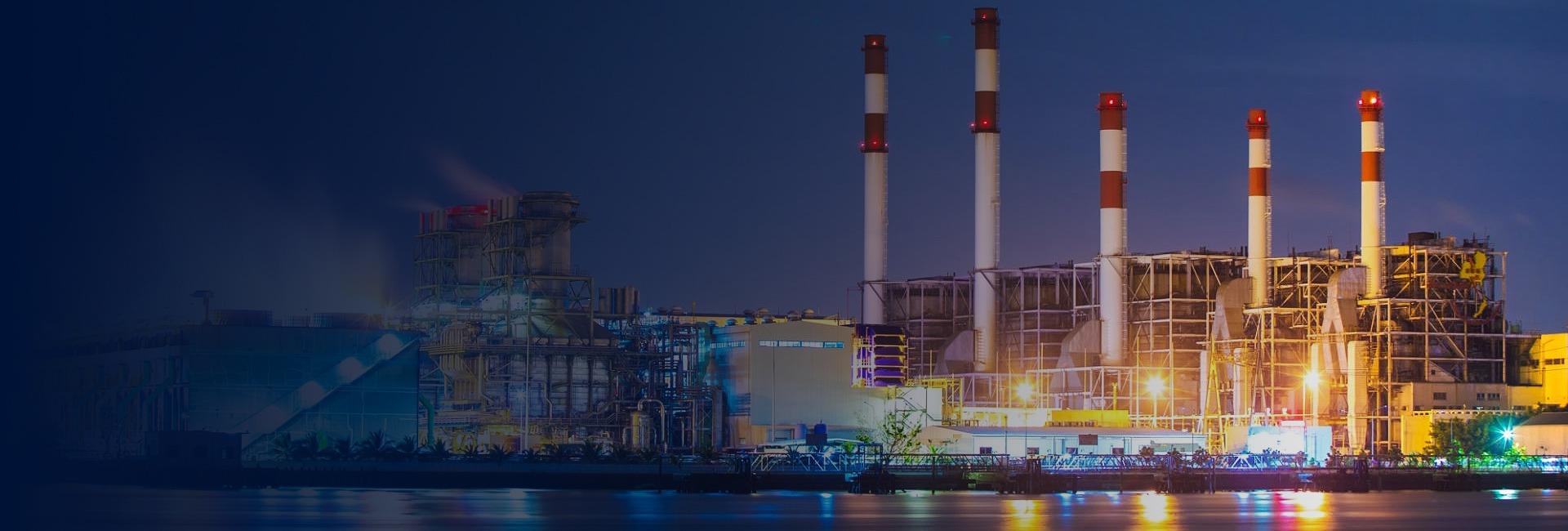 Industrie in der Nacht - Nitz Oil